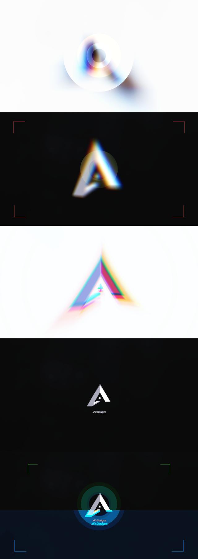 Minimal Photographer Glitch Logo - 1