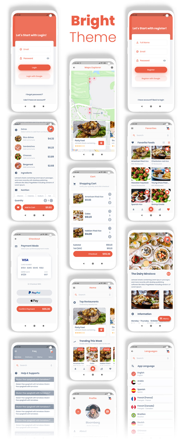 Food Delivery Flutter   PHP Laravel Admin Panel - 21