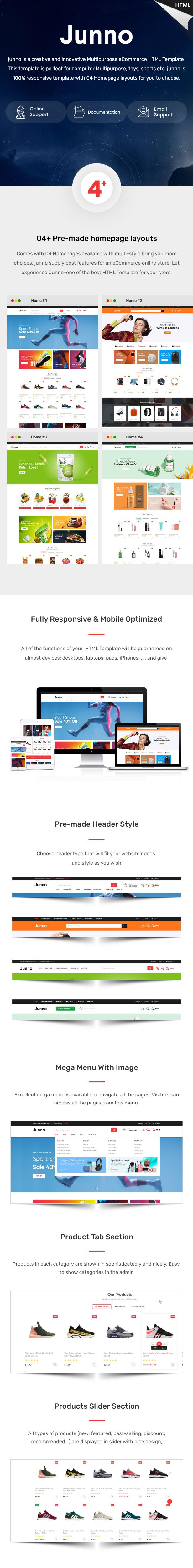 Junno – Multipurpose eCommerce HTML Template - 1