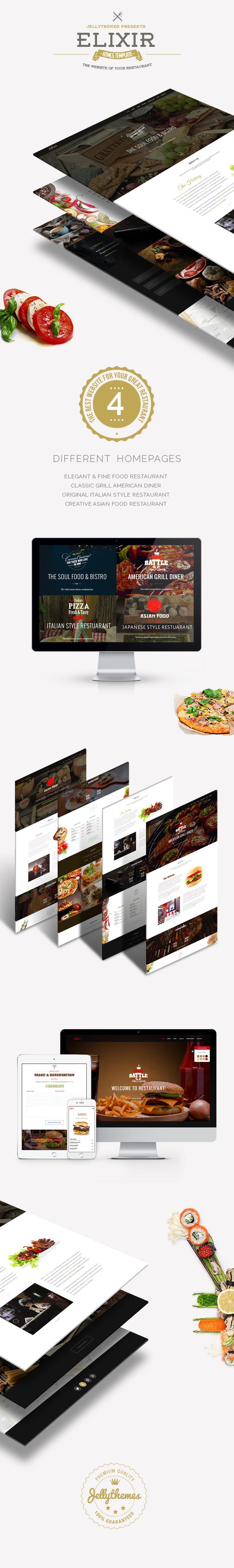 Elixir - Restaurant HTML Responsive Template - 2