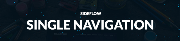 SideFlow Single Portfolio Navigation