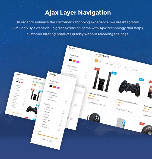 Market - Premium Responsive Magento 2 & 1.9 Store Theme - Ajax Layer Navigation