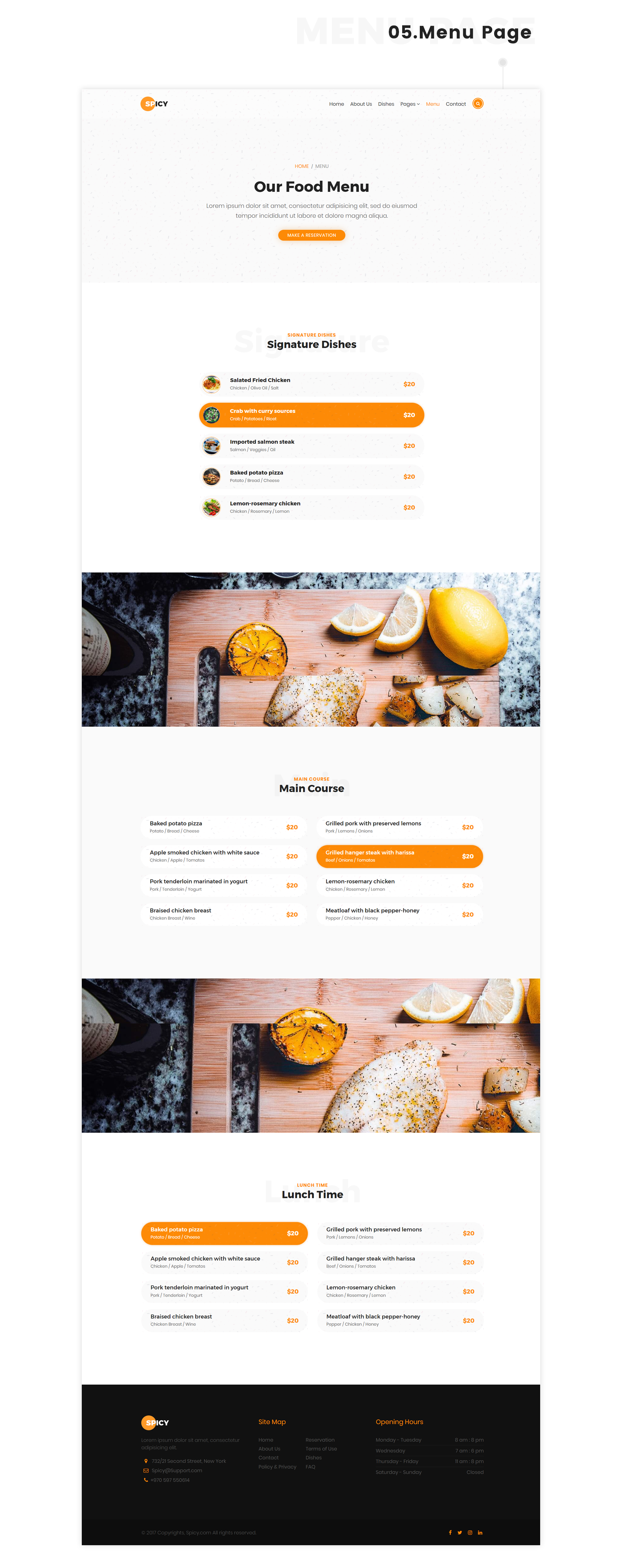 Spicy - Restaurant HTML5 Template - 6