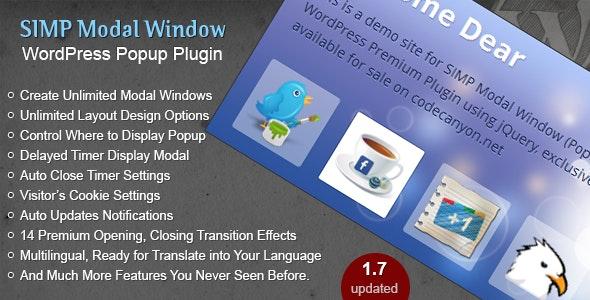 Simp Modal Window - Popup Plugin for WordPress