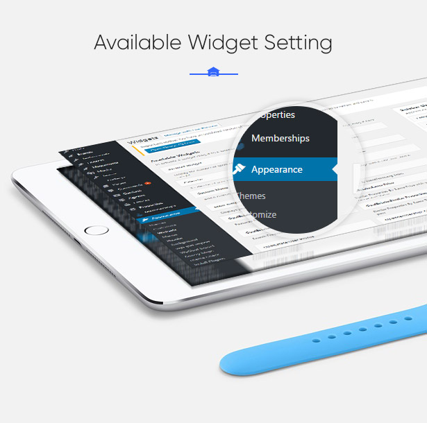 Available Widgets in Parahouse Real Estate WordPress Theme