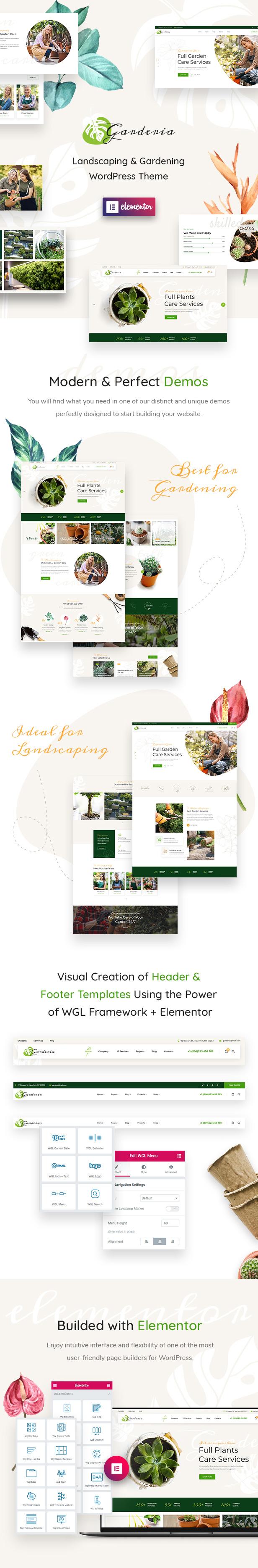 Garderia - Landscaping & Gardening  WordPress Theme - 1