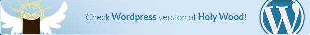 Holy Wood - Multipurpose WordPress Landing Page