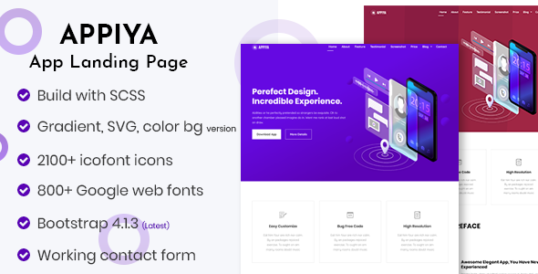 Appiya - App Landing Page - Apps Technology