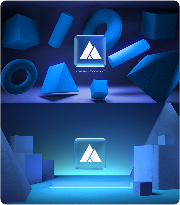 Gradient Glass Logo Reveal. 10 Ready Color Presets. - 6