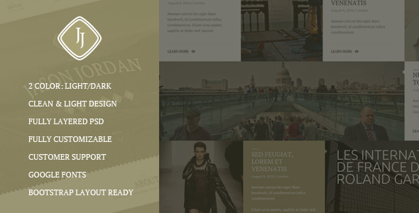 JJ -  One Page Multi Purpose Portfolio PSD Theme - 4