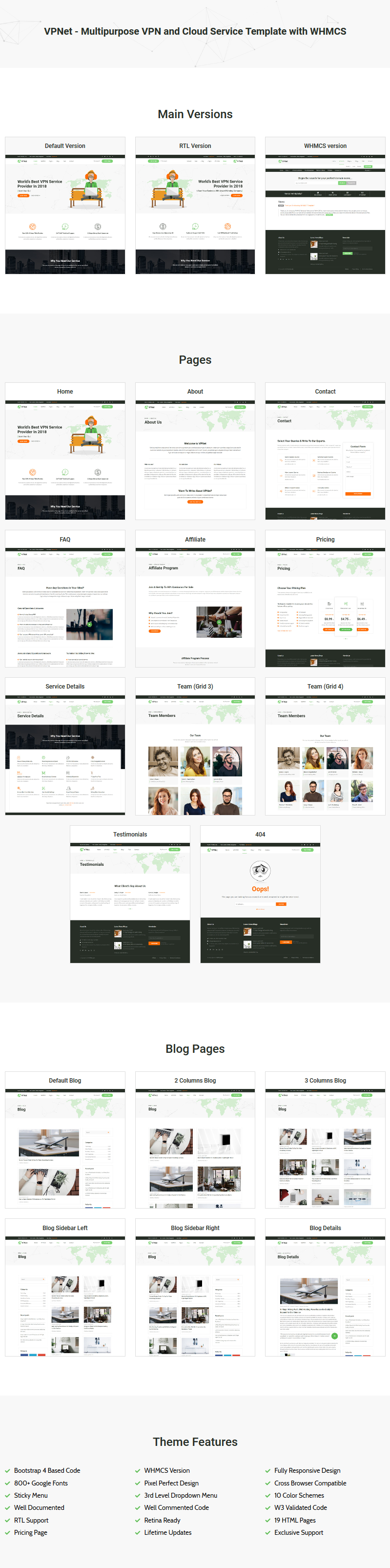 VPNet - Multipurpose VPN and Cloud Service Template with WHMCS by ...