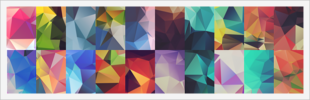 20 Low-Poly Polygonal Background Textures