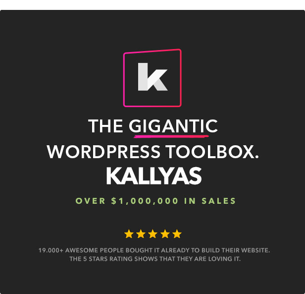 Kallyas the Gigantic WordPress Toolbox