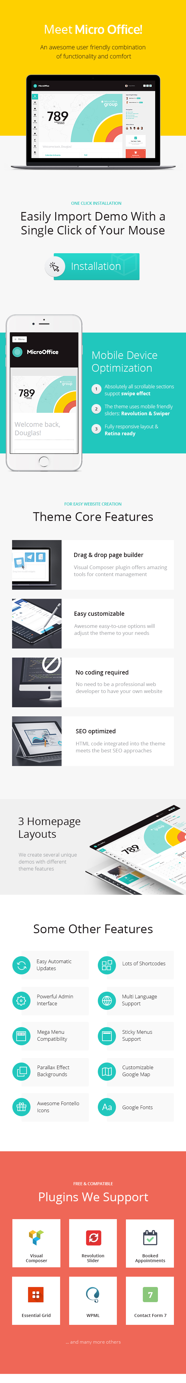 Micro Office | Extranet & Intranet WordPress Theme - 3