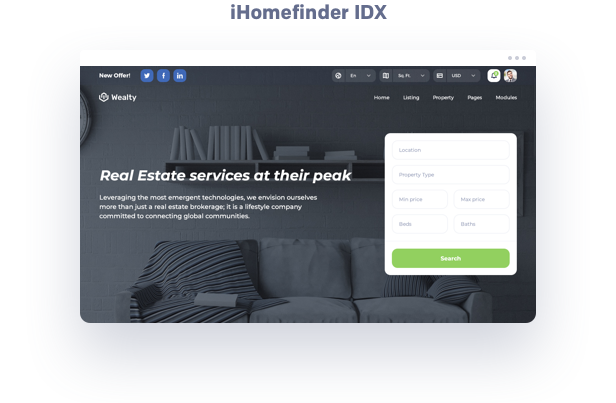 Ihomefinder real estate wordpress theme plugin