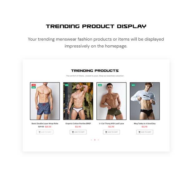 Trending product display