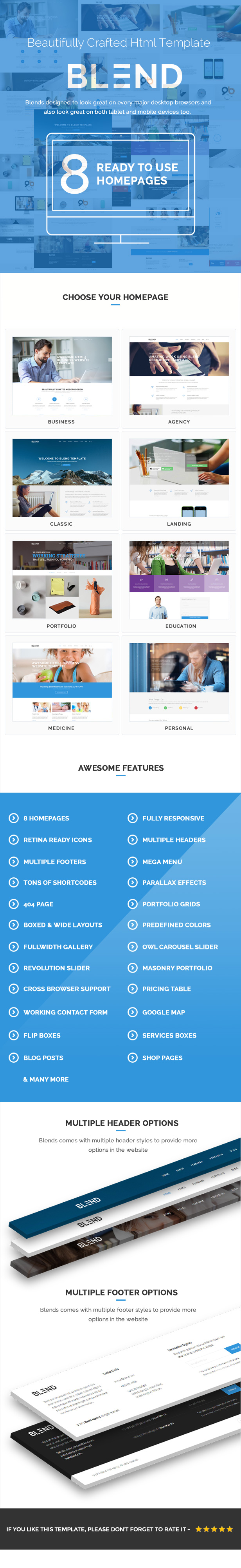 Blend - Multi-Purpose Responsive Website Template - 3