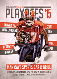 Design Cloud: Playoff Football Flyer Template