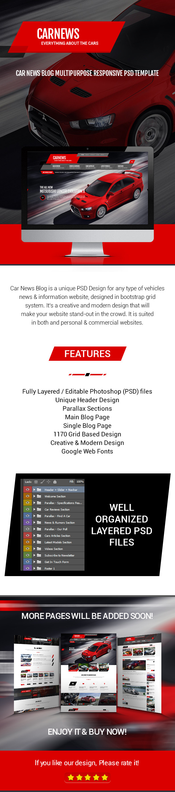 news information website designed in bootstrap grid system it s a creative and modern design that will make your website stand out in the crowd