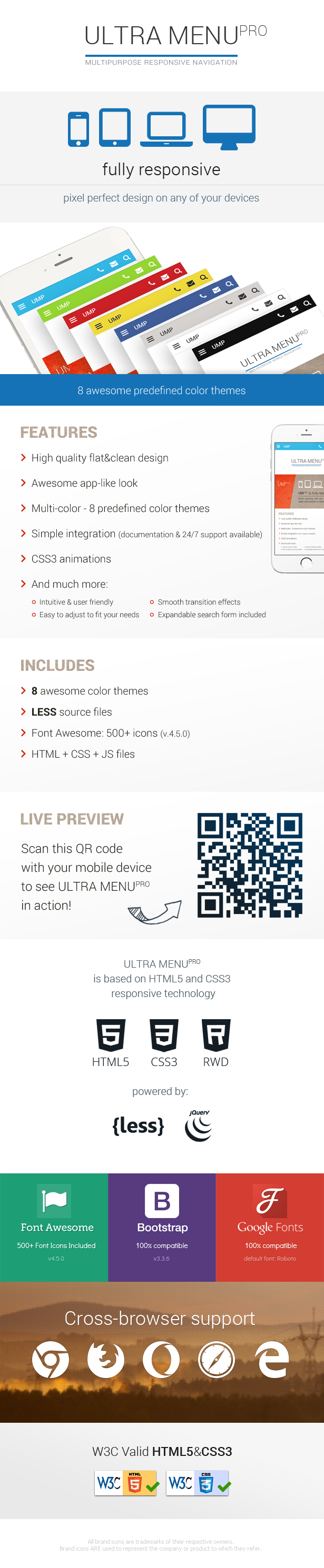 Multipurpose Responsive Navigation Menu - 4