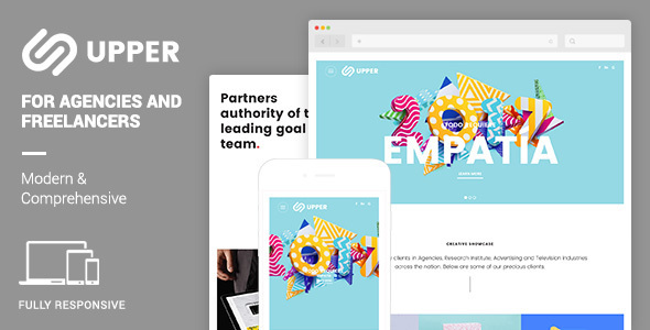 Upper Responsive Muse Template | Modern & Comprehensive Portfolio