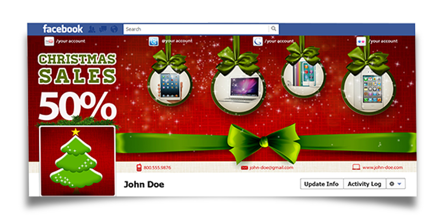 Christmas Real Estate Twitter Cover - 6