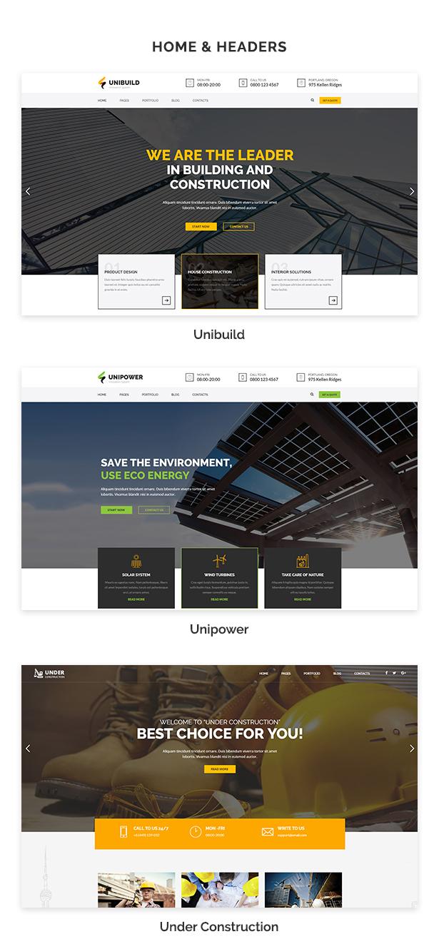 Unibuild | Technology Companies and Business WordPress Theme - 3