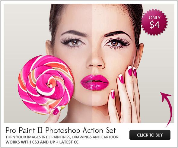 Photoshop paint action