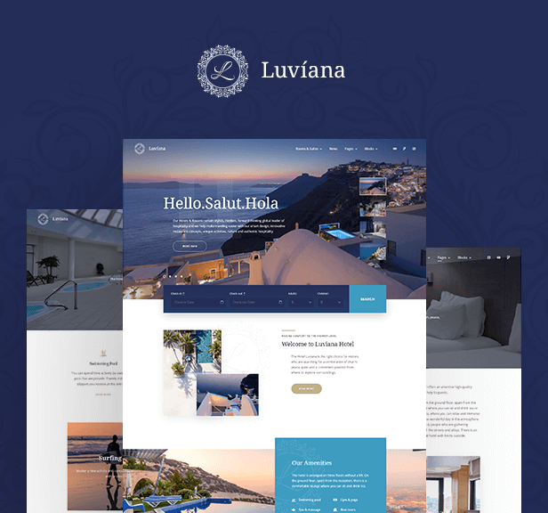 Hotel Booking WordPress Theme - Luviana