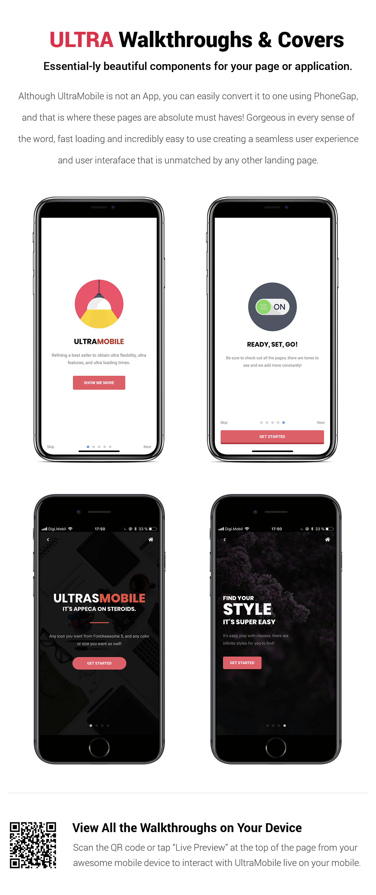 Ultra Mobile | The Ultimate Mobile Template