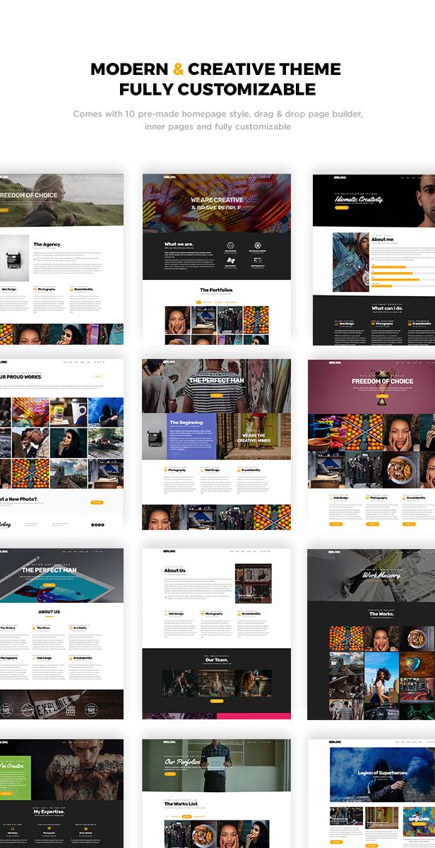 Gerlong - Responsive One & Multi Page Portfolio Theme - 1