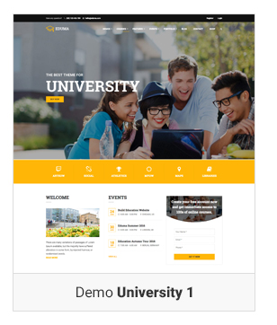 Education WordPress theme - Demo university 1