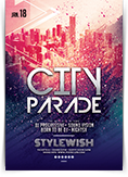 City Parade Party Flyer