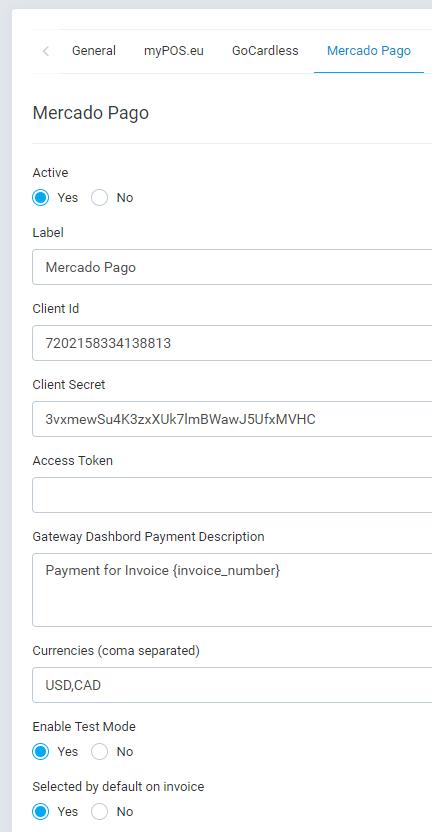 Mercado Pago Payment Gateway para Perfex CRM - 2