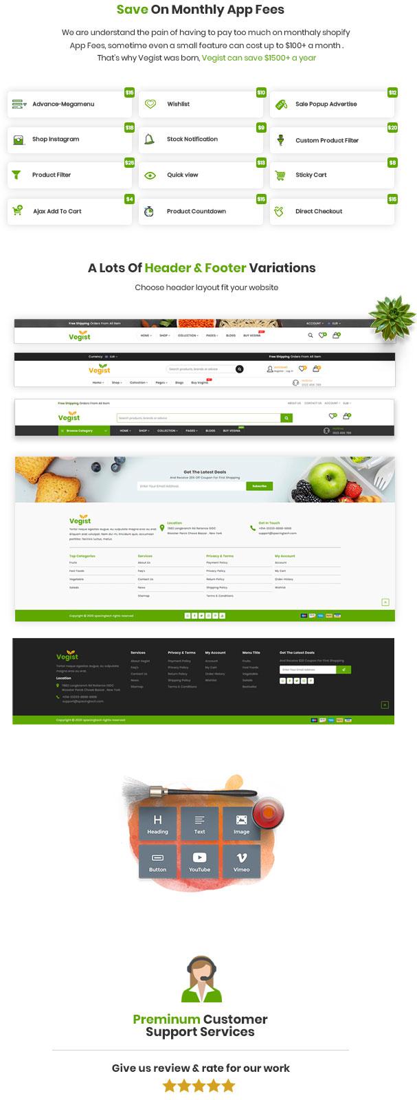 Vegist - The  Vegetables, Supermarket & Organic Food eCommerce Shopify Theme - 9