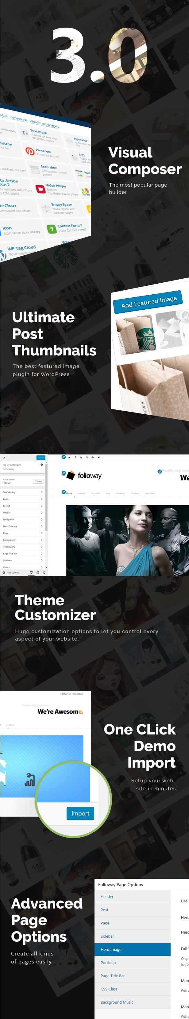 Folioway - Premium Portfolio WordPress Theme - 1