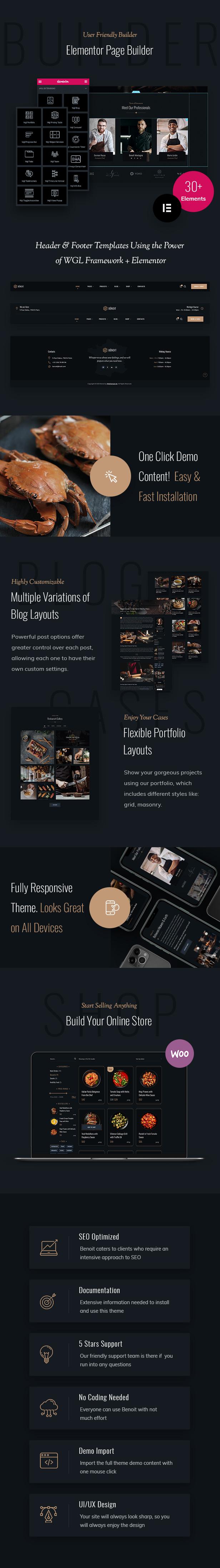 Benoit - Restaurants & Cafes WordPress Theme - 3
