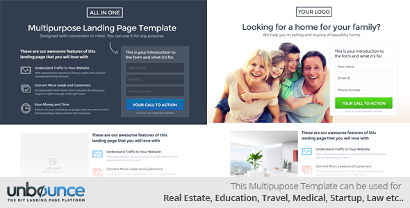 Multipurpose Landing Page Template - All in One - 4