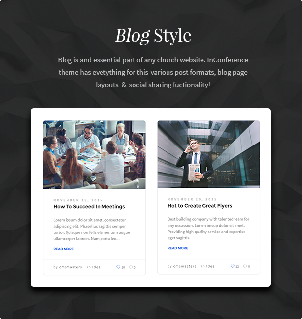 In Conference - Meetup & Conference Business Event WordPress Theme