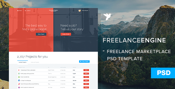 FreelanceEngine PSD Template