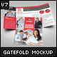 US Letter Bi-Fold Brochure Mock-Up - 91