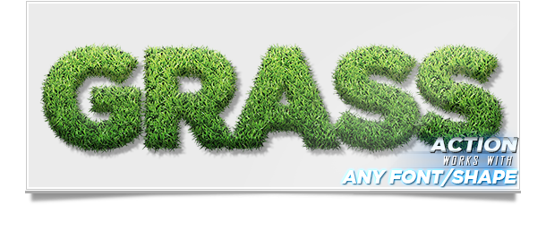 Grass generator photoshop action text effect