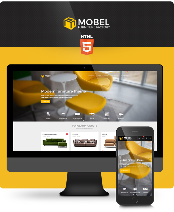 Mobel Furniture And Interior Website Template, Pixel Perfect Crafted In A  Professional Manner U2013 With Positive And Lasting Impression.