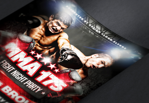 Mma Fight Night Party Flyer Template By DesignCloud  Graphicriver