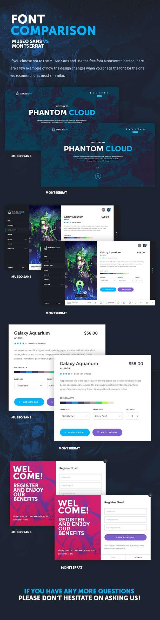 Phantom Cloud - Digital Artist Merchandising Shop PSD Template - 7