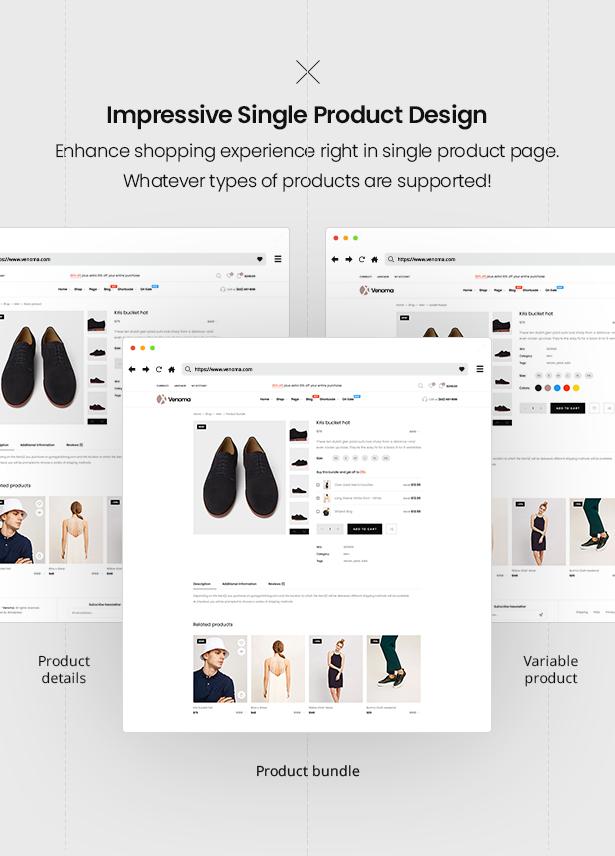 Impressive Single Product Venoma Fashion WooCommerce WordPress Theme