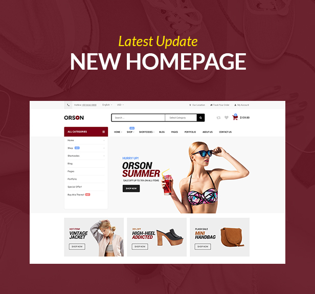 Orson Innovative Ecommerce WordPress Theme for Online Stores