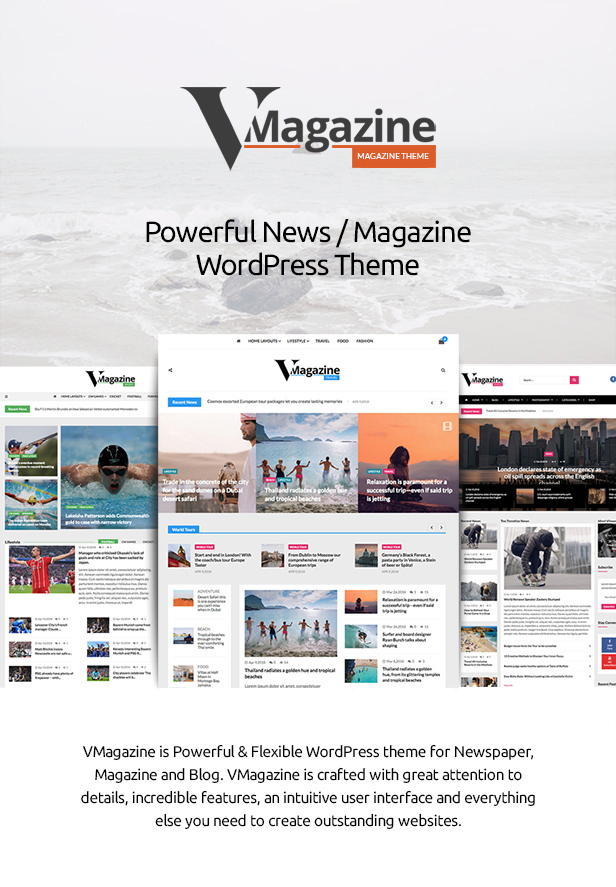 Vmagazine - Blog, NewsPaper, Magazine WordPress Themes