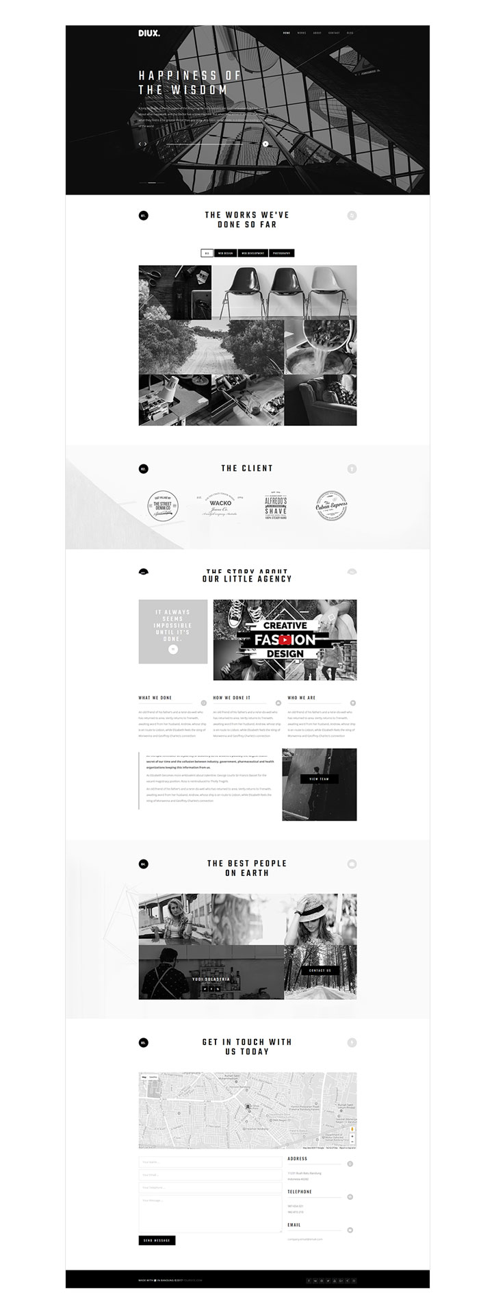 Diux - Responsive One Page Portfolio Template - 3