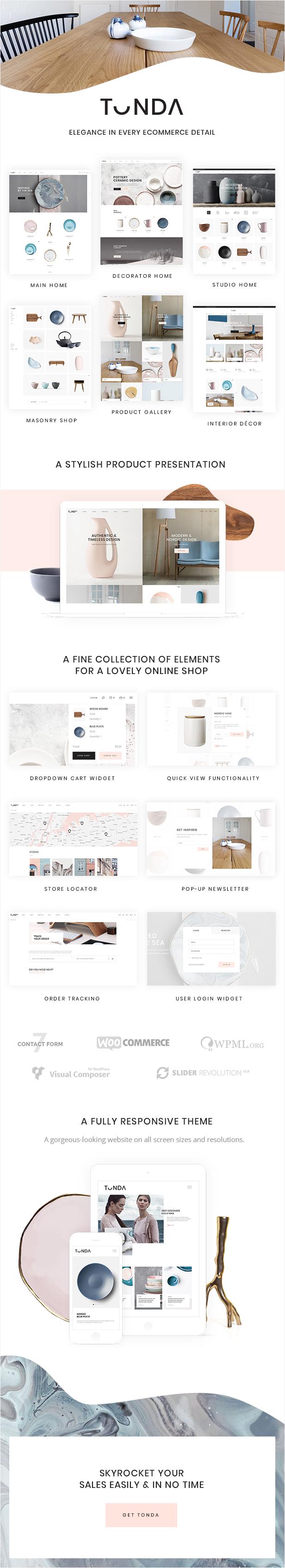 Tonda - Elegant WooCommerce Theme - 1